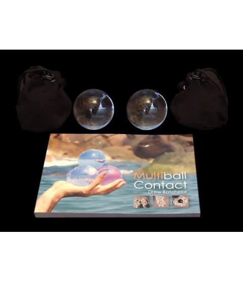 2 x 75mm Acrylic Contact Balls, Multiball Contact Book and two Contact Ball Bags