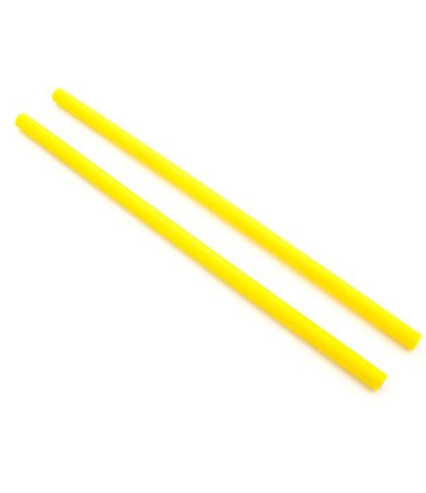 Yellow Silicone Devilstick Handsticks (Thick)