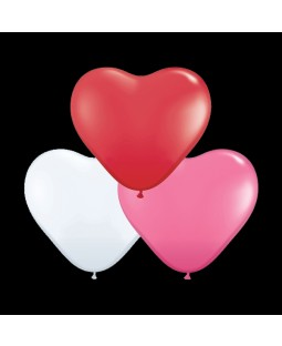 "Qualatex 6"" Heart Balloons - Love Heart Assortment"