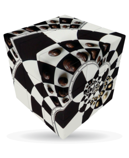 V-Cube 3 x 3 x 3 Chess Board Illusion Puzzle Cube