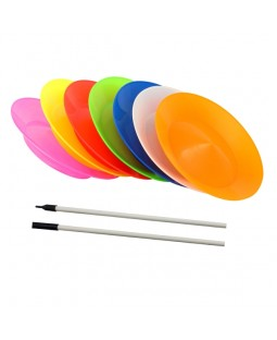 Juggle Dream Spinning Plates & Stick - 10 sets