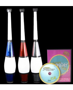 3 x Juggle Dream 'Euro Classic' Clubs and Instant Clubs DVD