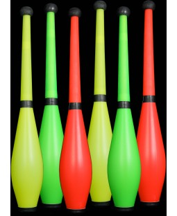 6 x PX3  Moulded Flouro Pirouette Clubs ( for the price of 5)