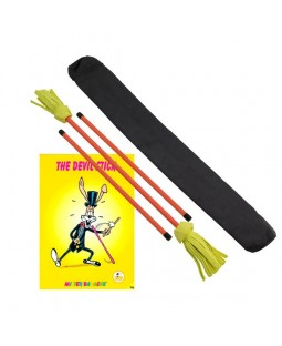 Neo Flower Devil Stick, Control Sticks, Bag and Instructional Book