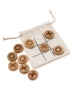 X & O (Noughts & Crosses) Wooden Pebble Game - Skill Toys
